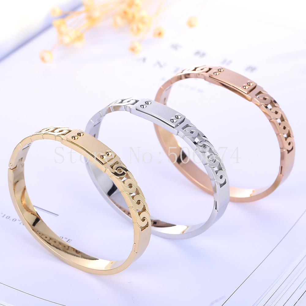 Top Quality Charm Famous Brand Jewelry titanium Cuff Carter Bracelets Bangles Stainless Steel Bracelets For Women lover gift