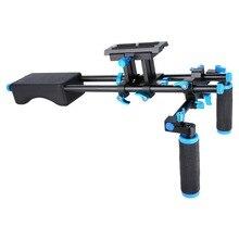 D2 omuz destek braketi 5D2/5D3 SLR kamera fotoğrafçılık dirsek Kamera omuz destek DSLR RIG Fotoğraf Stüdyosu Aksesuarları