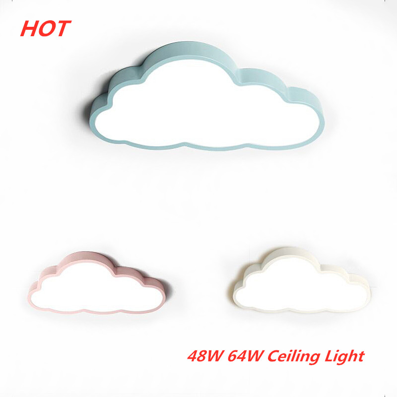 48W/64W Remote Control Dimmable Ceiling Lamp LED Modern Cloud Shape Ceiling Light  Indoor Bedroom Living Room Decor Lighting48W/64W Remote Control Dimmable Ceiling Lamp LED Modern Cloud Shape Ceiling Light  Indoor Bedroom Living Room Decor Lighting