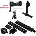 Pan Tilt Camera Bracket Mount Cantilever Combo: Tripod Panorama Head + 2-in-1 Clamp+ Linker + 2 Quick Release Plate