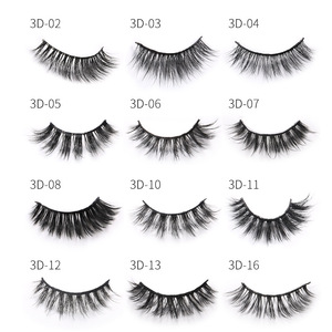 Image 3 - Sexy curly Mink Hair False Eyelashes 3D Natural/Thick Long Eye Lashes Wispy Eye Makeup Tools Faux Eye Lashes