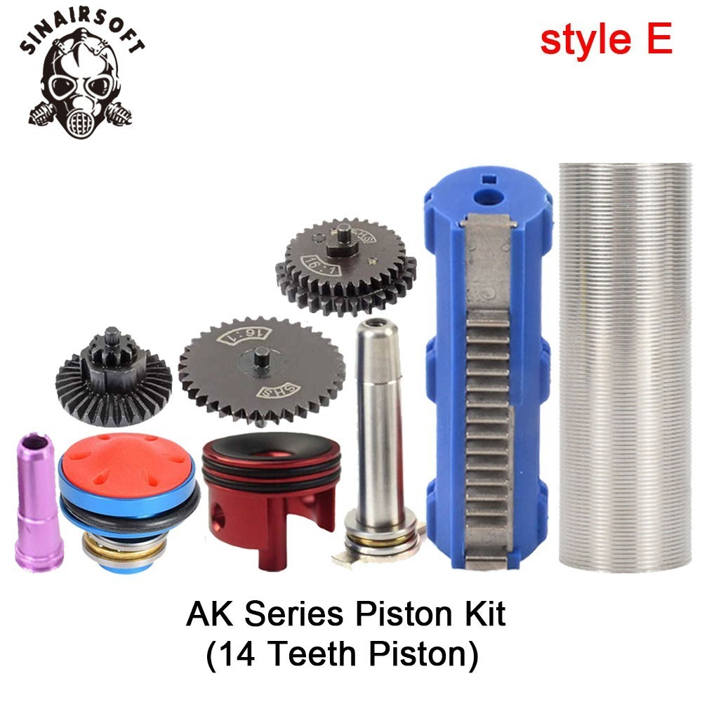 SHS-16-1-Gear-Nozzle-Cylinder-Spring-Guide-14-Teeth-Piston-Kit-Fit-Airsoft-M4-M16 (4)