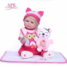 NPK Boneca Recém-nascidos 50 cm Corpo cheio de silicone Boneca Reborn Lifelike Bonecas Reborn Bebe Crianças Que Jogam o Brinquedo Presente de Aniversário Xmas