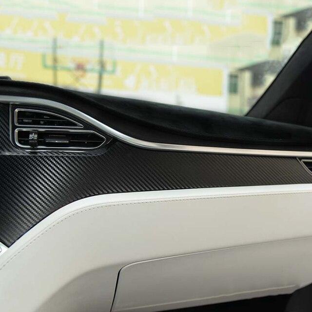 New Car Dashboard Carbon Fiber Stickers For Tesla Model X Model S