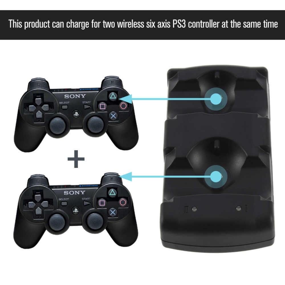 2 In 1 Dual Charging Dock Charger For Sony Playstation3 Wireless Controller For Ps3 Controller Hot Worldwide For Ps3 Charger Charger 2 In 1 Charger 2charger For Aliexpress