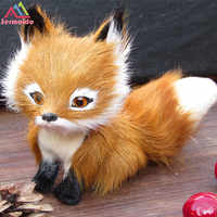 3'' Cute Realistic Fox Real Fur Furry Animal Interior Ornament Animal Plush Preschool Education Baby Toys Kids Birthday DBP201