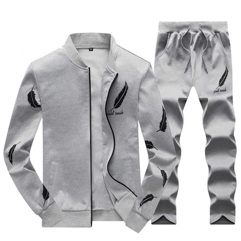 ... Тонкий для мужчин s Пот костюмы наборы для ухода за кожей спортивный  костюм мужской повседневное кофты ... ae4bac15676