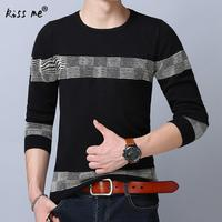 Fashion 2017 Men Brand Winter Ethnic Sweater Special Striped Print Men Good Quality Long Sleeve Mens