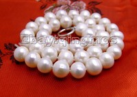 SALE Big 10 11mm High Quality White Round Natural Freshwater Pearl Loose Beads 14 Los45 Wholesale