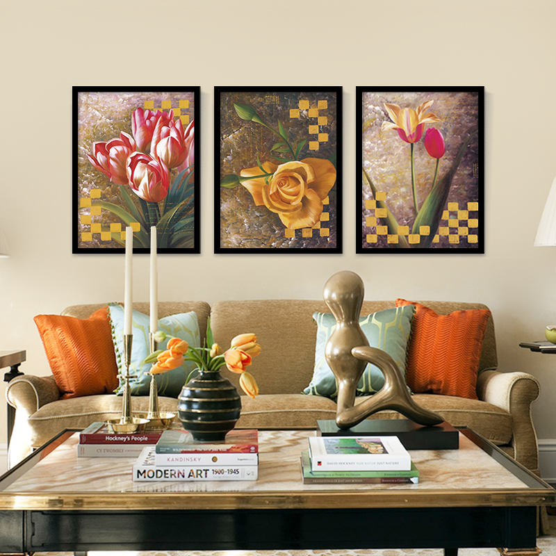 Lily Flower Painting On Canvas Oil Spray Painted Unframed Pictures For Home Decor Christmas Gift Wall Prints No Frame