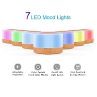 DMWD Remote Control Ultrasonic Air Humidifier Essential Oil Diffuser Aromatherapy Mist Maker LED Light Wood Grain