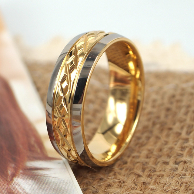Thailand Teng Nepal pure titanium jewelry 18k gold plated ring