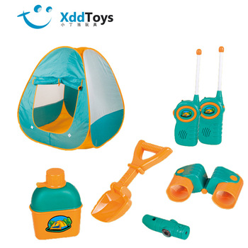 6 Fitness Activities for Young Children Outdoor Play Tent Field Beach Toys with Walkie-talkies and Binoculars Ball Pool