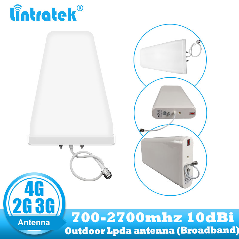 2G 3G 4G Outdoor Cell Phone Amplifier Antenna 10dbi LDPA 700 - 2700 Mhz Cellular Repeater For GSM LTE DCS Mobile Signal Booster