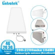 Répéteur cellulaire extérieur de lantenne 10dbi LDPA 700 2700 mhz damplificateur de téléphone portable de 2G 3G 4G pour le propulseur Mobile de Signal de GSM LTE DCS