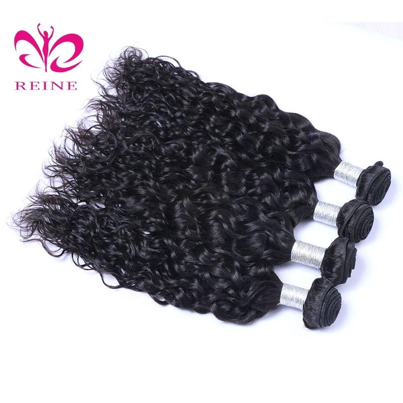 Reine волос 3 Связки Малайзии Воды Волна Волос 3 шт./лот 100% человеческого волоса ткет натуральный черный Цвет ни Волосы remy расширения