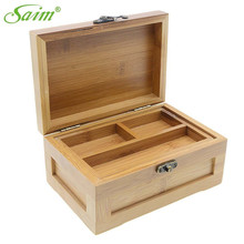 Saim Jewelry Storage Box Wooden for Crafts Vintage Wood With Lid Home Christmas Gift Boxes Case Decor Holder Bin