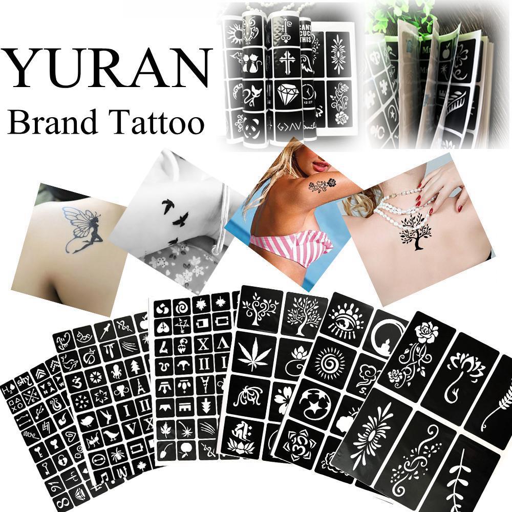 все цены на 1 Book 312 Style Tattoo Template For Body Art Airbrush Makeup Tattoo Paste Drawing Card Cones Album Women Tattoo Stencils онлайн