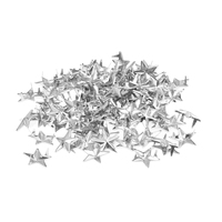 100 rivets applied silver 15mm star shaped spikes