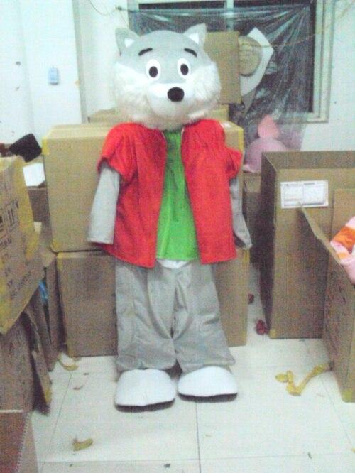 Costume de mascotte de dessin animé loup gris Husky pour adultes tenue de noël Halloween Costume de déguisement livraison directe gratuite