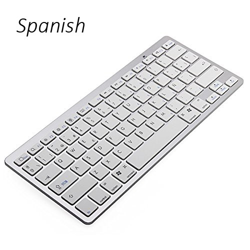 Teclado inalámbrico ultra delgado Bluetooth 3.0 en idioma español para ipad / Iphone / Macbook / PC / tableta Android Envío gratuito