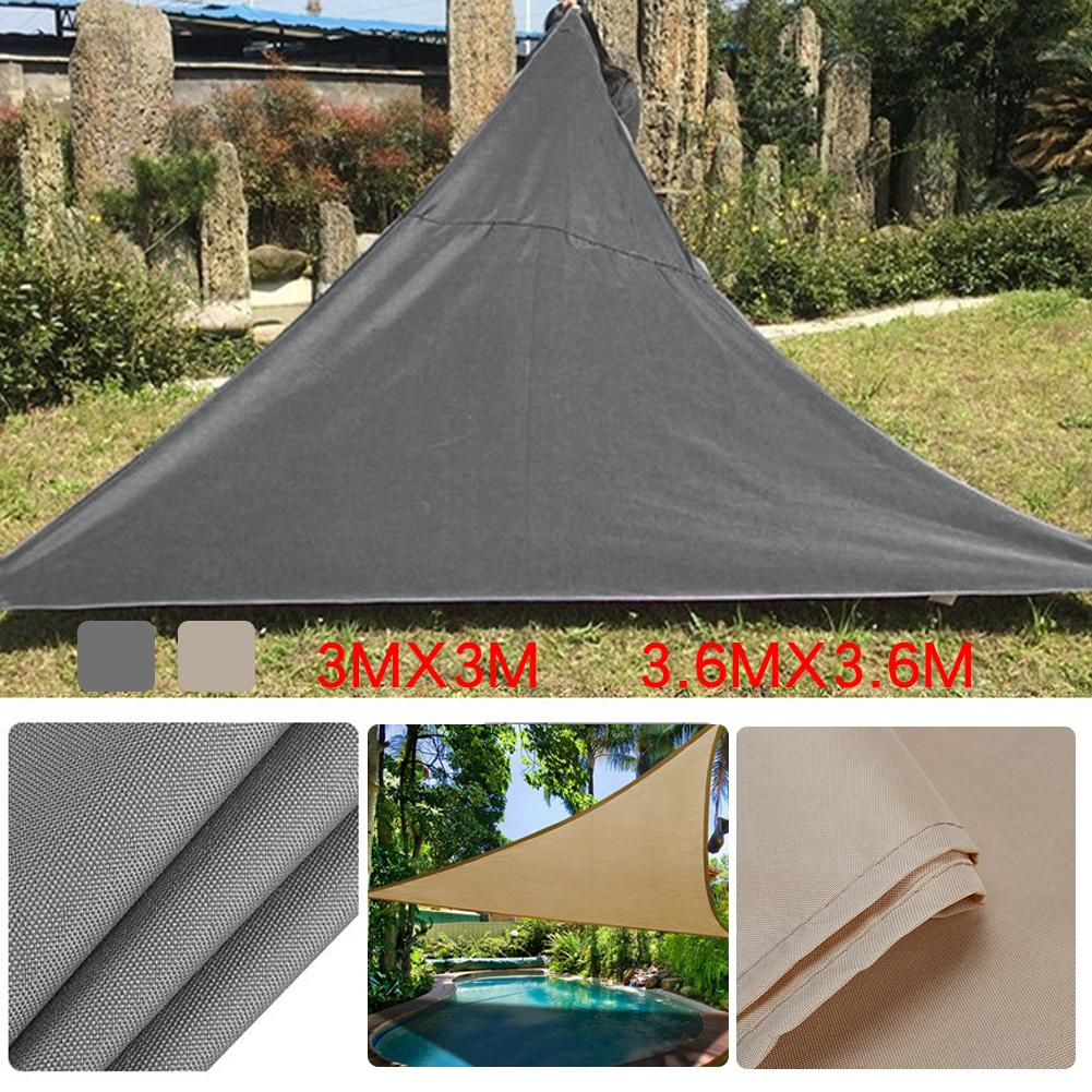 Polyester Fabric Triangle Sun Protection Canopy Garden Patio ...