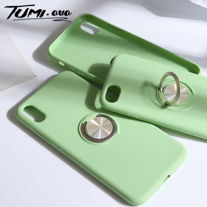 Оригинальные жидкие силиконовые чехлы для Xiaomi mi 9 A2 6X чехол для Red mi Note 7 6 Pro Полное покрытие защита подставка чехол для рук кольцо