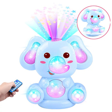 Купить с кэшбэком Glowing Sing Dance Baby Toys 0-12 Months Doll Educational Toys Mobile Elephant Story Rattles Children's Toys Mobile On The Bed