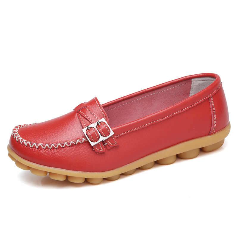 Hot Koop Schoenen Vrouwen Flats Zachte Bodem Lederen Loafers Lente Ballerina Platte Nieuwe Oxford Schoenen Dames Schoenen Vrouwelijke