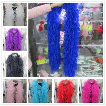 YY-tesco 2 Meters/Lot 6 Layers natural Ostrich Feather Boa Quality fluffy Costumes/Trim for Party/Costume/Shawl/Craft Available - DISCOUNT ITEM  15% OFF All Category