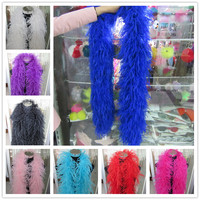 YY tesco 2 Meters/Lot 6 Layers natural Ostrich Feather Boa Quality fluffy Costumes/Trim for Party/Costume/Shawl/Craft Available