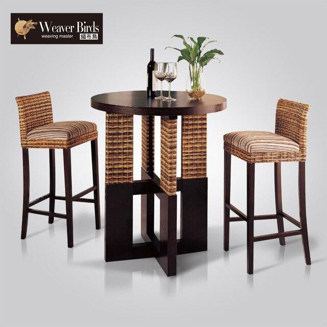 weaver muebles de rattan mimbre muebles de mimbre silla silla de la barra de bar taburete de bar mesa indymac taburetes de combinacin