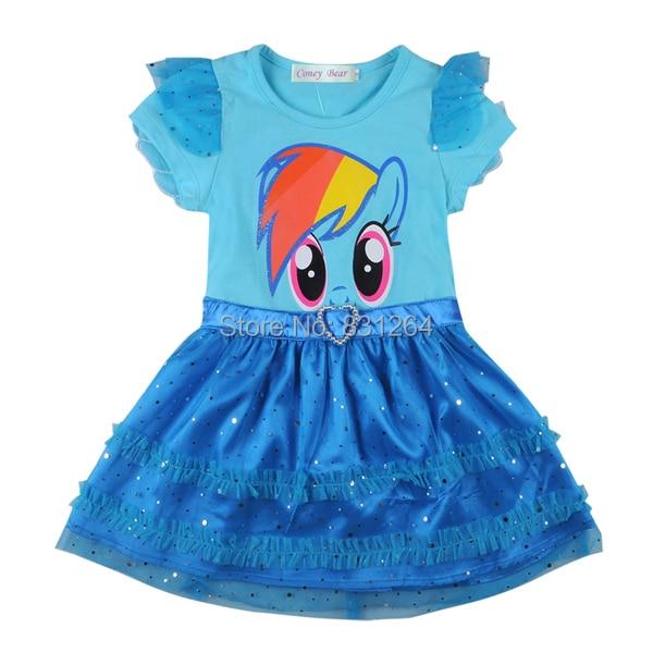 2015 summer girls my little pony dress baby girls princess dress
