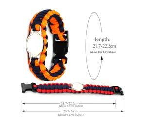 Image 4 - Custom baseball Football Paracord Survival Outdoor Camping Sports Bracelet Friendship Rope 550 7 Bracelets For Women Men Jewelry