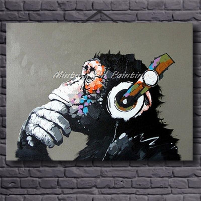 Item DescriptionHand Painted Canvas Oil Paintings Gorilla