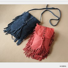 2017 Women Genuine Leather Suede Shoulder Bags Music Festival Fringed Tassel Boho Ibiza Rock Gothic Soft Messenger Bags