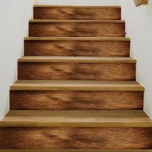 3D Beste Spiel Holz Muster Wand Fliesen Treppen Aufkleber Abnehmbare Pvc Wand Aufkleber Wasserdichte Wandbild Poster für Zimmer Stairway