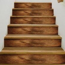 3D Лучший матч деревянная настенная плитка с узором лестницы стикер s Съемный ПВХ настенный стикер водонепроницаемый росписи постер для лестницы комнаты
