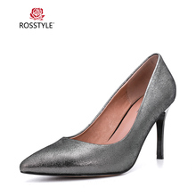 ROSSTYLE Hot Sale Women Fashion Pointed Toe Shoes Spring Autumn Bling Pumps Sexy Slim Party Super High Heels Red Apricot X22