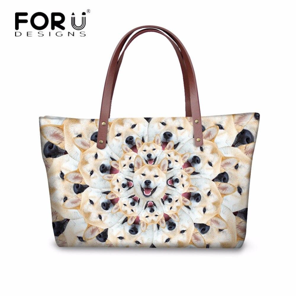 3db978e30c FORUDESIGNS Cute Pet Husky Pattern Handbags Women Messenger Bags Fashion Ladies  Casual Tote Shoulder Bags Female Cross Body Bags-in Top-Handle Bags from ...
