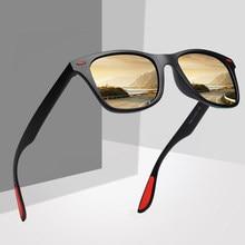 f00a7ce7bf690 DESIGN DA MARCA Clássico Óculos Polarizados Óculos de Sol Das Mulheres Dos Homens  de Condução Quadrado Quadro Óculos de Sol .