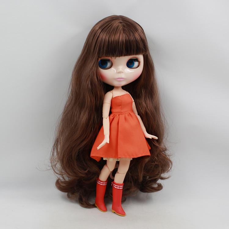 ФОТО Nude Blyth doll with joint body brown long hair fashion blyth doll diy toys  birthday dolls for sale