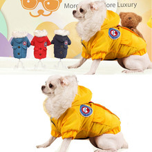 Free delivery,small pet Teddy Chihuahua canine garments winter heat canine jacket hooded coats four colours measurement S-2XL
