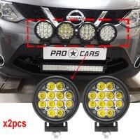 Round 60W Led off road lights 6 Inch Led driving lights 12V 24v led auxiliary lights for 4wd SUV 4x4 ATV Spot Lights x2pcs