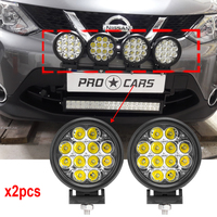 Round 60W Led off road lights 6 Inch Led driving lights 12V 24v led auxiliary lights for 4wd SUV 4x4 ATV Spot Lights x2pcs