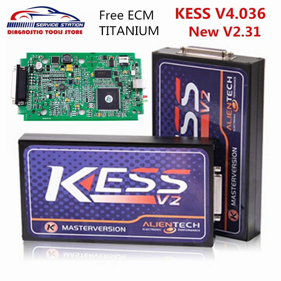 DHL Free KESS V2 ECU Chip Tuning Tool KESS V4.036 With Free ECM Titanium V161 KESS V2.31 Master Version No Token Limited