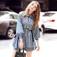 Dresses T Shirt Striped Dress Summer 2017 Casual Fashion Runway 2017 European Style Sexy Party Retro