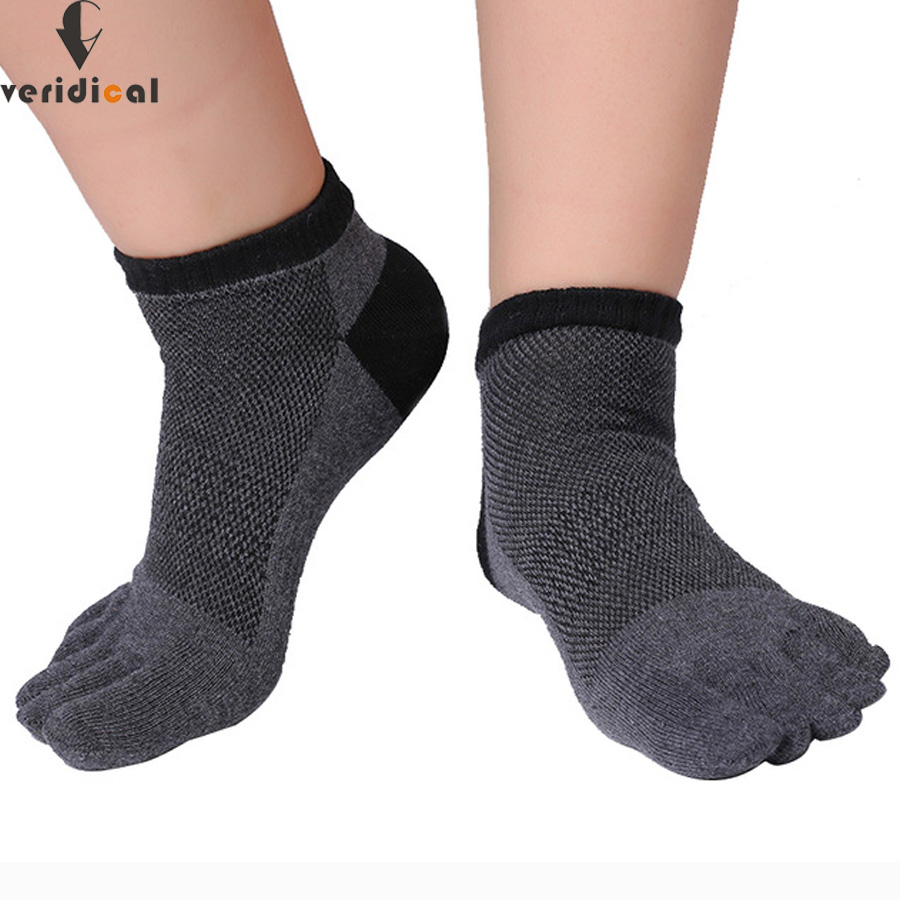 VERIDICAL 5 pairs/lot cotton five fingers socks Mesh short cool Sock Slippers breathable ankle socks men boy meias masculino