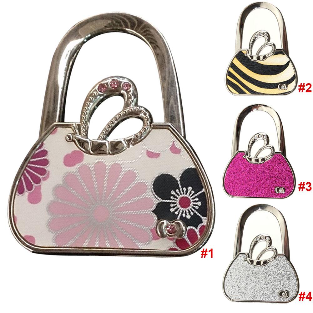 Newly 2016 Cute Folding Handbag Purse Bag Hanger Durable Table Hook Hang Holder Bag 88 hobo bag