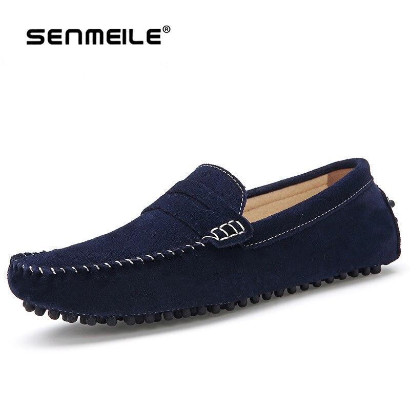 2015 hakiki deri moda Flats casual nefes erkekler ayakkabı moccasins Erkekler loafers yüksekliği kaliteli sürüş ayakkabı